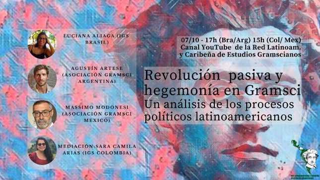 Vídeo de la Jornada de debate: Revolución pasiva y hegemonía en Gramsci: un análisis de los procesos políticos latinoamericanos.